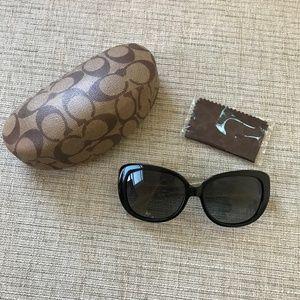 Coach Black Rectangular Sunglasses